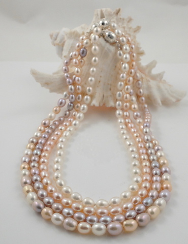 Fine Quality Single Strand Rice Pearl Necklace Amp Magnetic