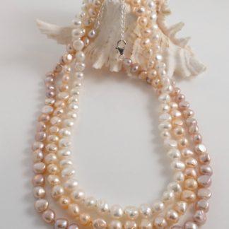 3 Colour Barouqe Pearl Necklaces