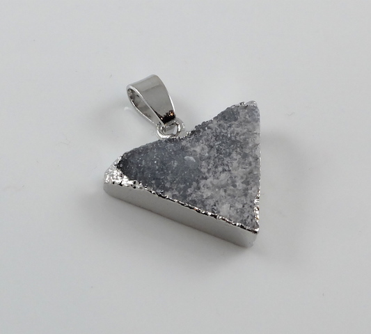 Cloudy grey Triangle Druzy