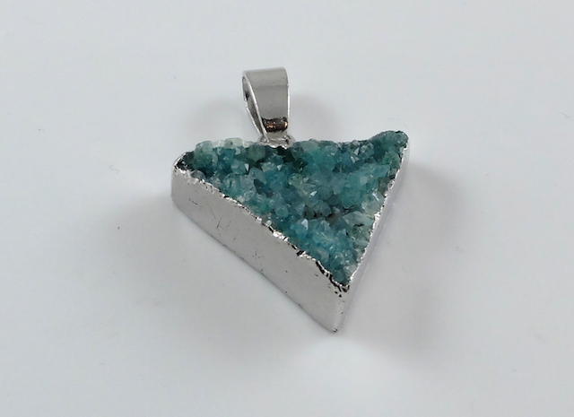Lake Green Triangle Druzy