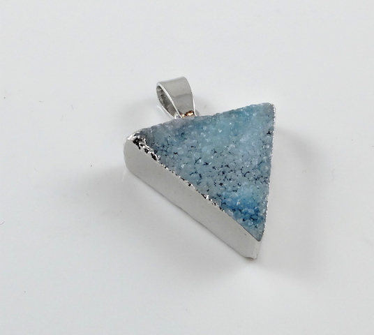Lakeblue Triangle Druzy