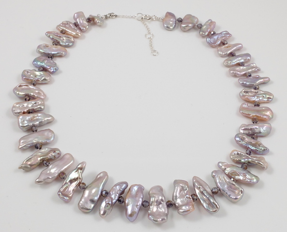 Lavender Biwa Pearl Necklace2