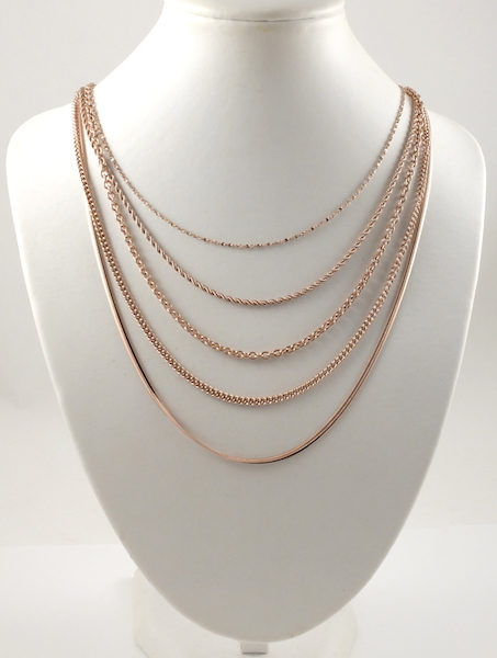 Stainless steel Rose Gold-plated Chains