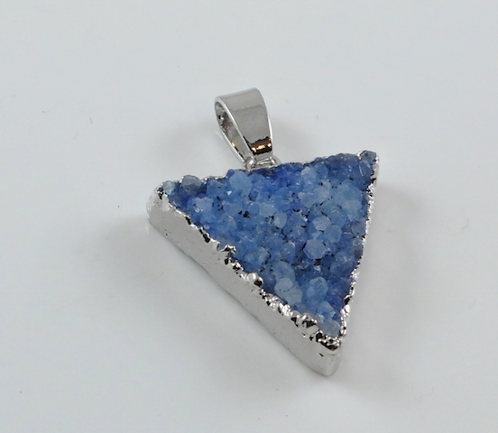 Skyblue Triangle Druzy