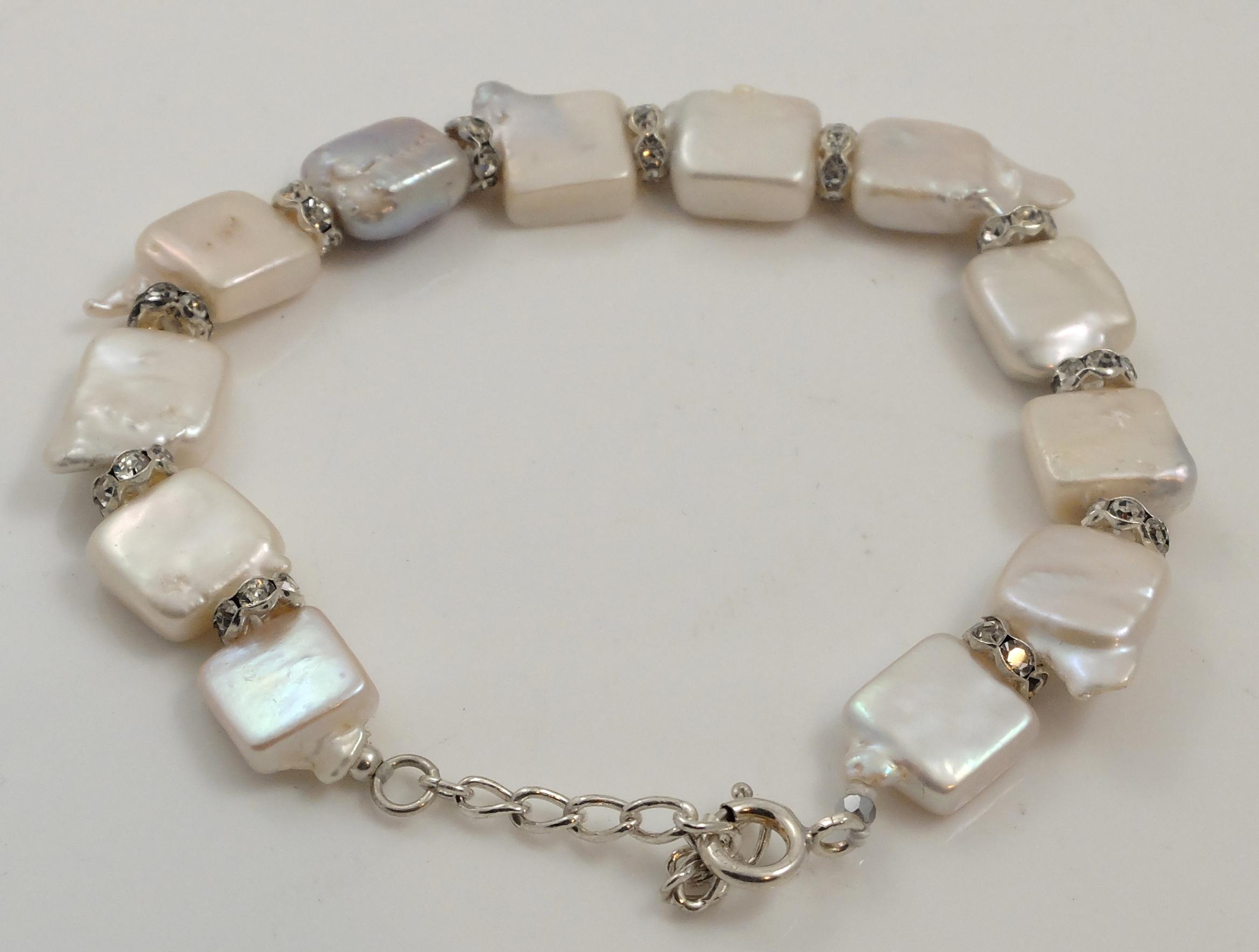 Square Biwa Pearl Bracelet 2