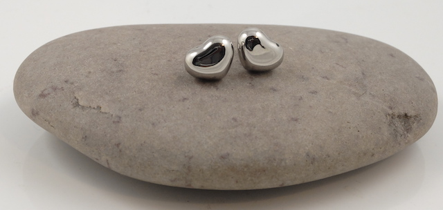 Stainless Steel 3D Heart Studs