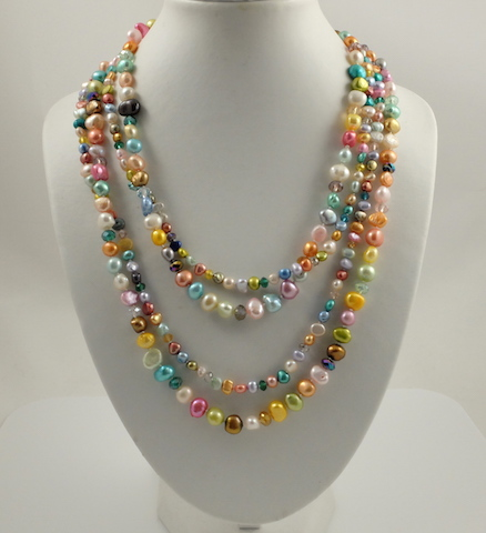 Multi-colour Pearl Long NL Twisted 4
