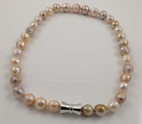 Wrinkly Ripple Pearl Necklace Clasp