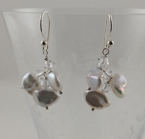 Keshi Petal Crystal Earrings