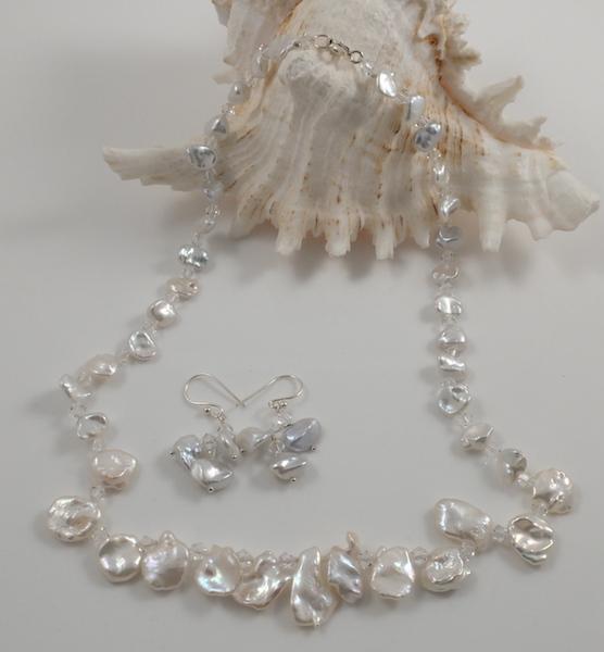 Keshi Petal Pearl & Crystal set 3