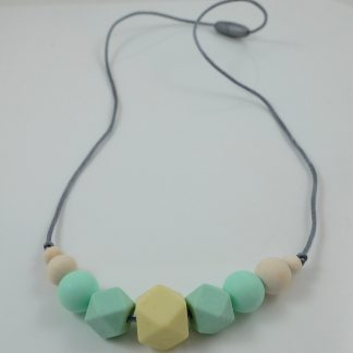 Hexagon & Round Beads Nursing Necklace