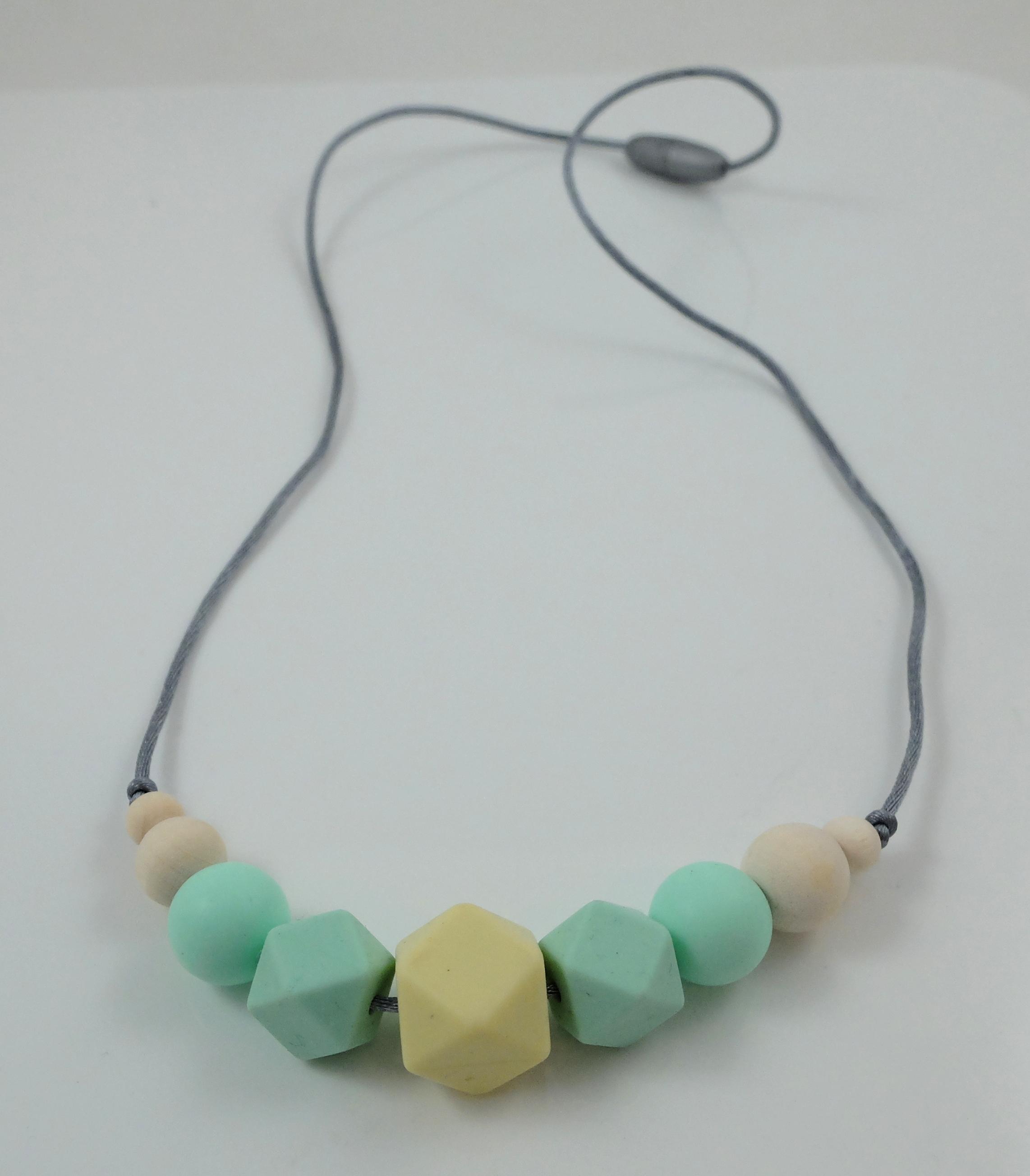 Hexagon & Round Beads Nursing Necklace