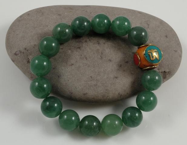 Donglin Jade &Tibetan Amber Bracelet