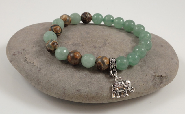 Jade & Agate, Elephant bracelet