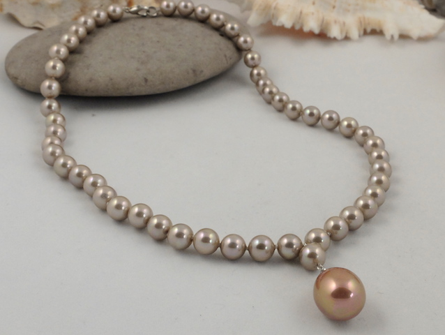 925 Silver Natural Pearl Necklace in a Sea Shell =UK SELLER=