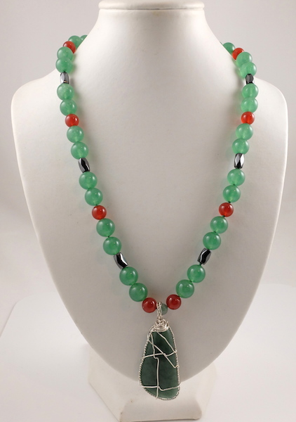 Jade & Carnelian Necklace 2