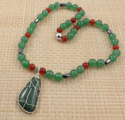 Jade foot & Carnelian-small