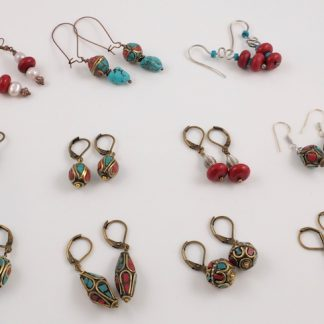 Tibetan earrings Handmade