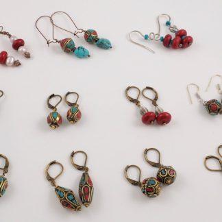 1075f9b86 Tibetan earrings Handmade. You're viewing: Nepalese Brass Filigree Beads &  Antique ...