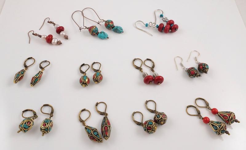 Tibetan earrings Handmade