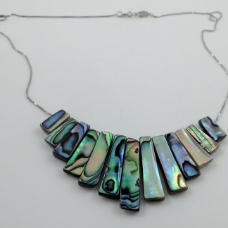 Abalone shell stick necklace