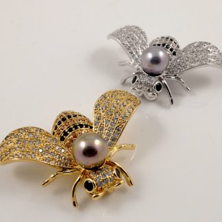 Gold/Silver Bee Brooches