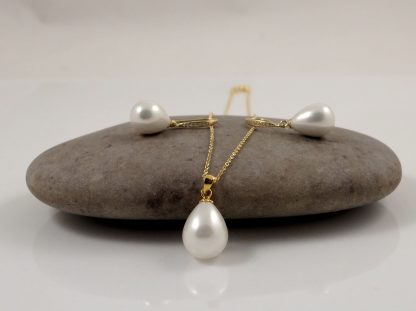 Gold White Pearl Set