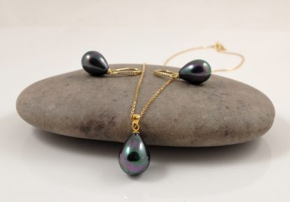 Gold Black Pearl Set