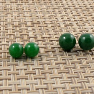 Malay Jade Sterling Silver Studs
