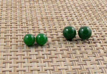 Malay Jade Sterling Silver Studs
