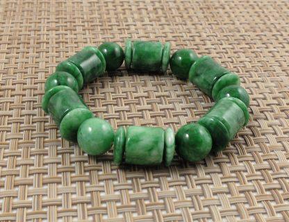 Multi-Shape Jade Bracelet