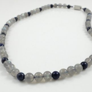 Moonstone & Lapis necklace