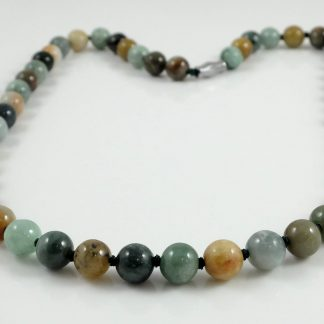 Natural Multicolour Burmese Jade Necklace