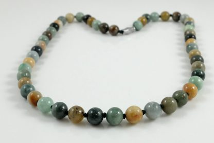 Natural Multicolour Burmese Jade Necklace