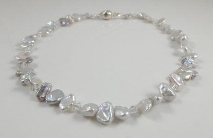 Keshi Pearl & crystal1