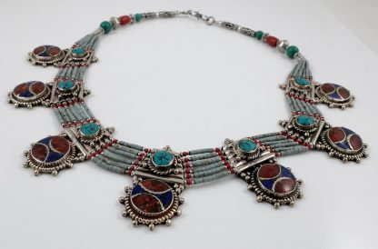 Coral, lapis & Turquoise necklace
